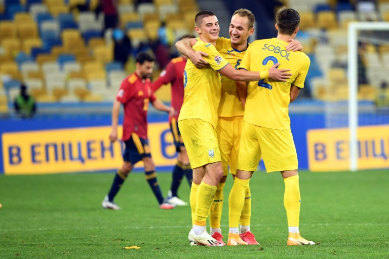 Ucrania y Suiza sorprenden a España y Alemania en Liga de Naciones