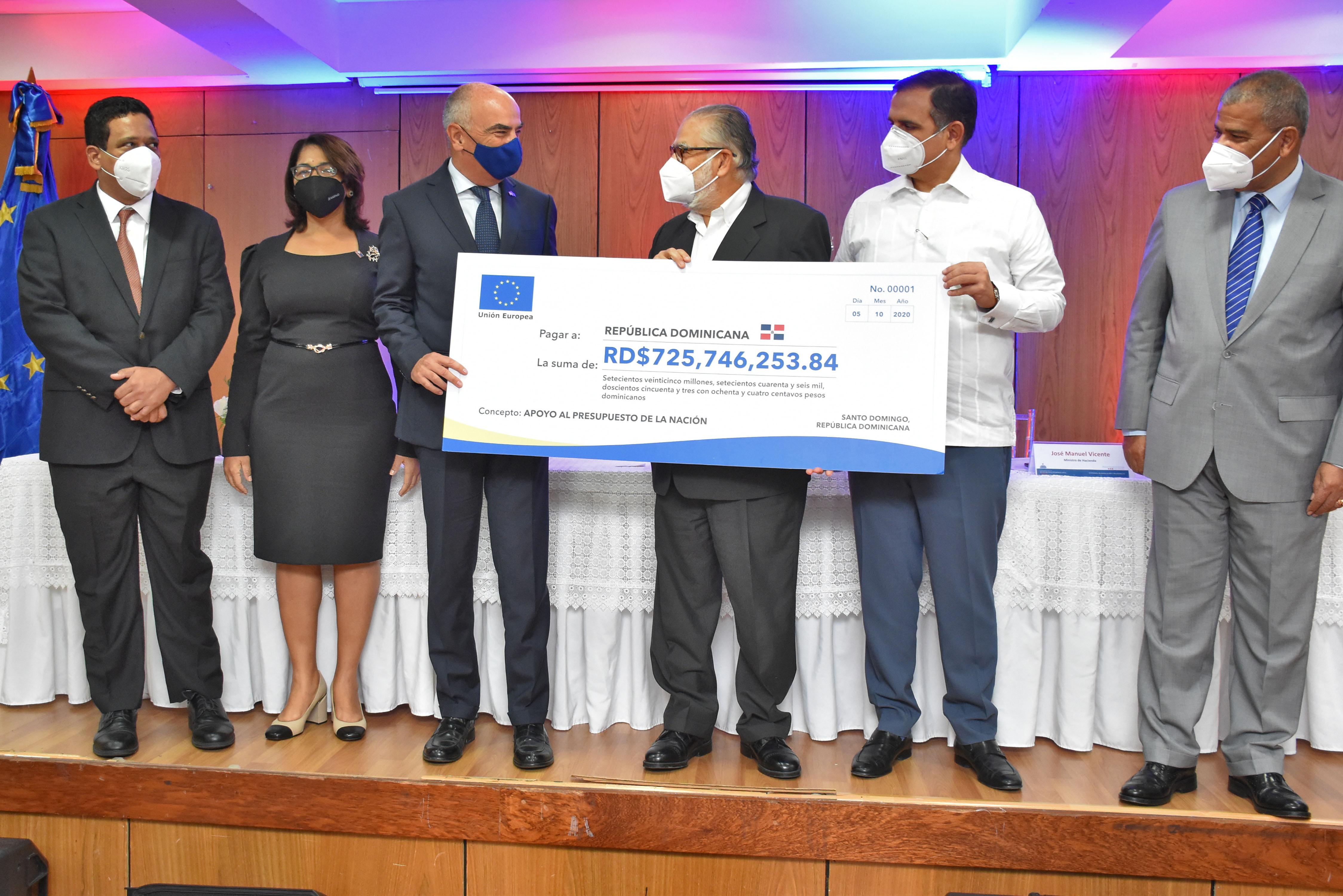 República Dominicana recibe en donación más RD$725 millones  de la Unión Europea como apoyo al Presupuesto Nacional