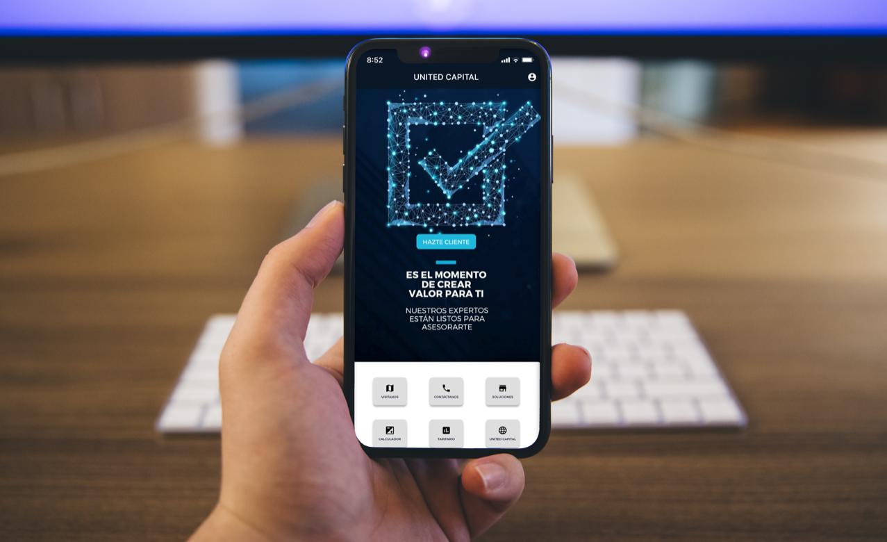 United Capital, primer puesto de bolsa en incorporar app móvil