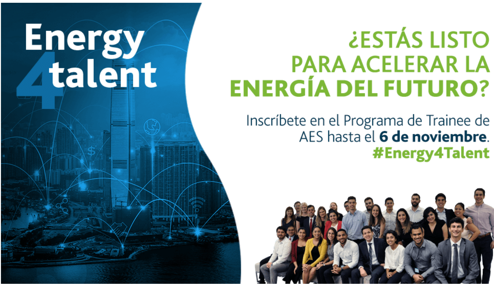 "AES Corporation convoca jóvenes dominicanos a su programa global de ""Trainees"""