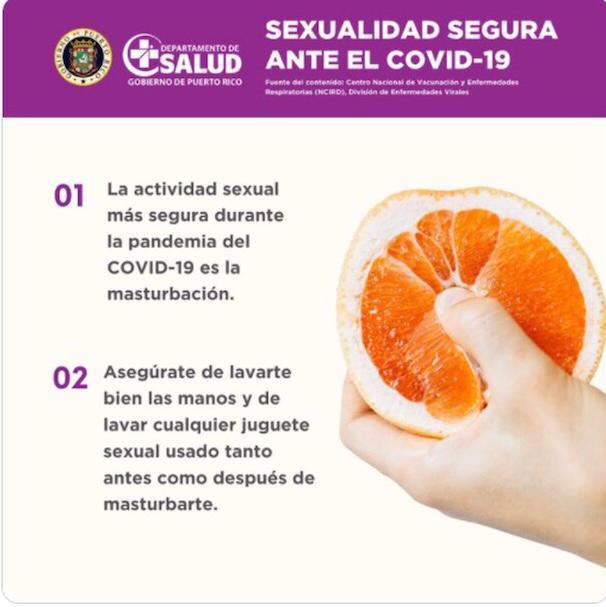 Desaparece de la cuenta de redes sociales de Salud, campaña que incentivaba la masturbación para evitar los contagios de COVID-19
