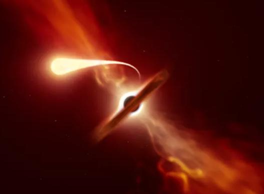 Graban el 'último grito' de una estrella devorada por un agujero negro súper masivo