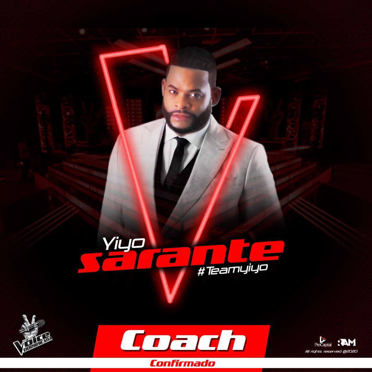 Yiyo Sarante confirmado como tercer coach vocal en The Voice Dominicana