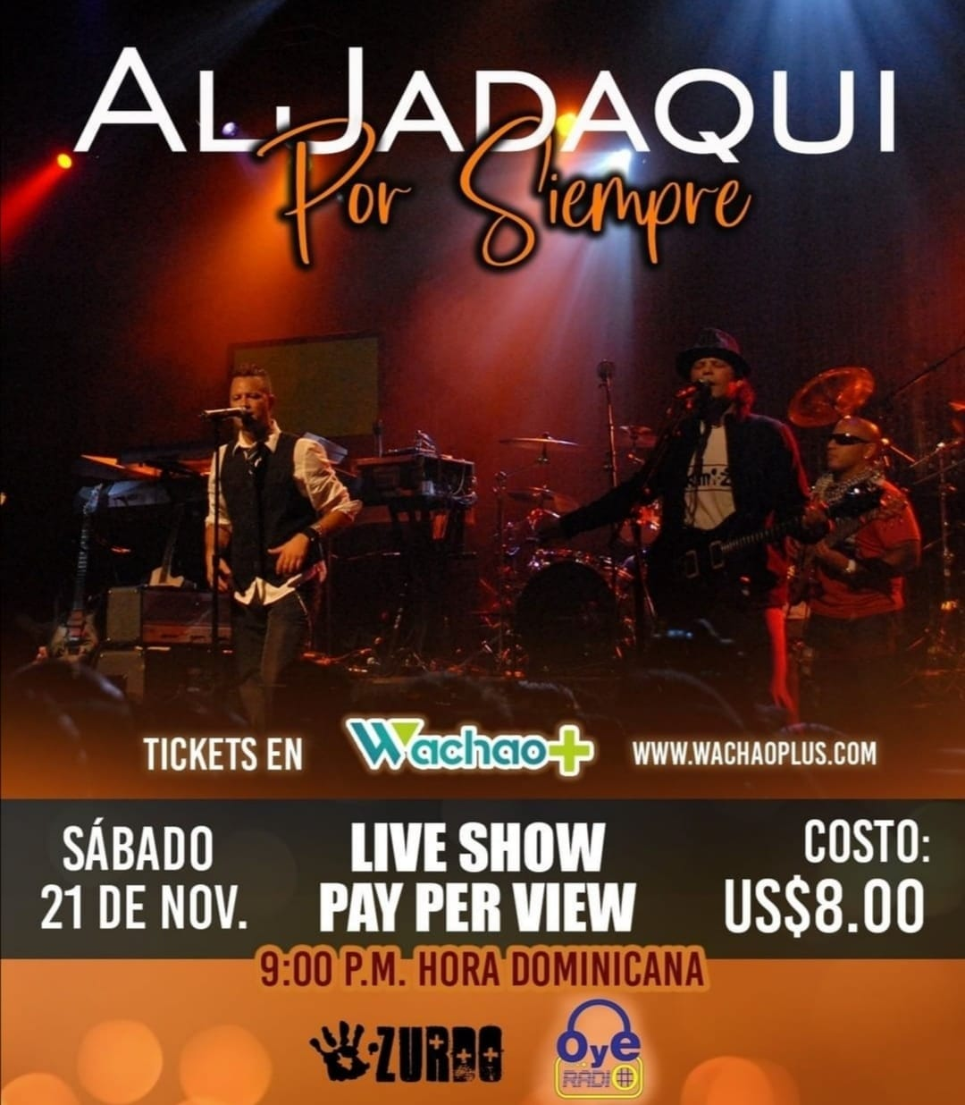 Aljadaqui se alista para su concierto virtual el sábado 21 de noviembre