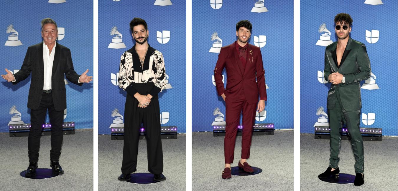 Los hombres también se lucieron en los Latin Grammy 2020