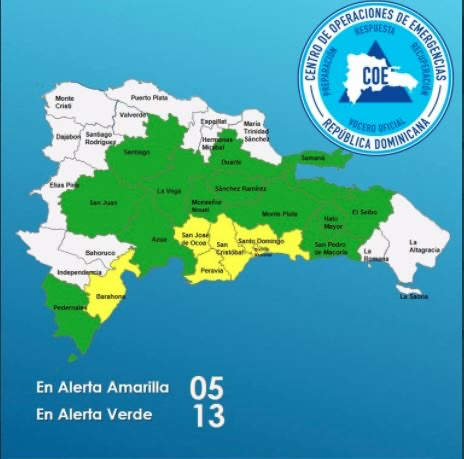 Video | COE eleva a 18 las provincias en alerta
