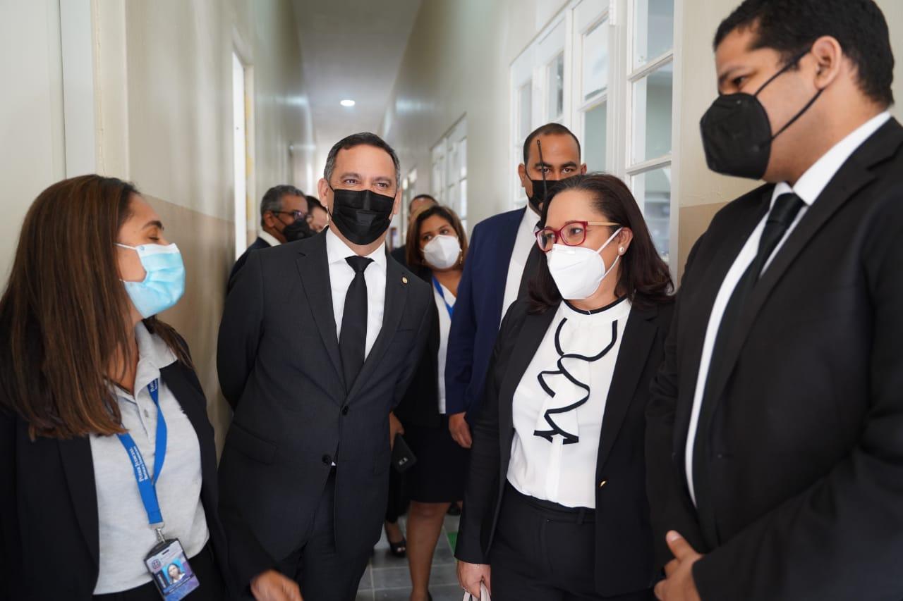 Presidente SCJ realiza recorrido en el Departamento Judicial de Monte Cristi