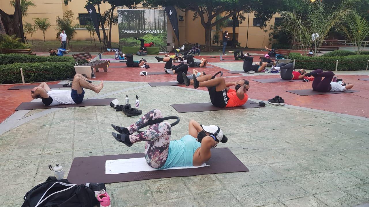 Video | Club Body Shop y ADN realizan actividad recreativa en el parque Iberoamérica