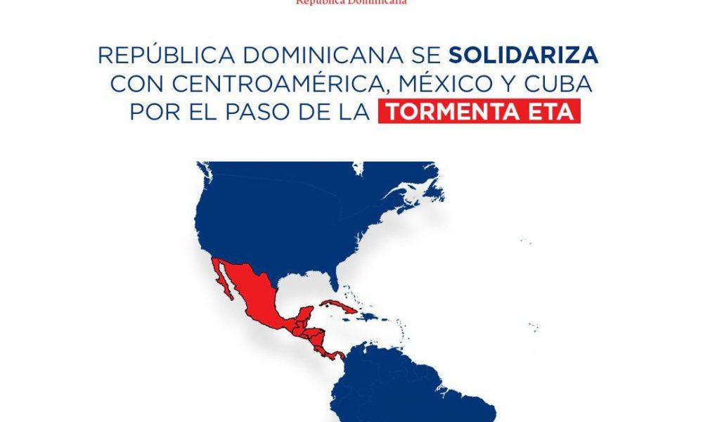 República Dominicana se solidariza con países afectados por Tormenta Eta