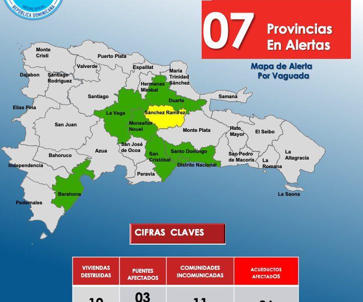 Reducen a 7 las provincias en alerta, según COE