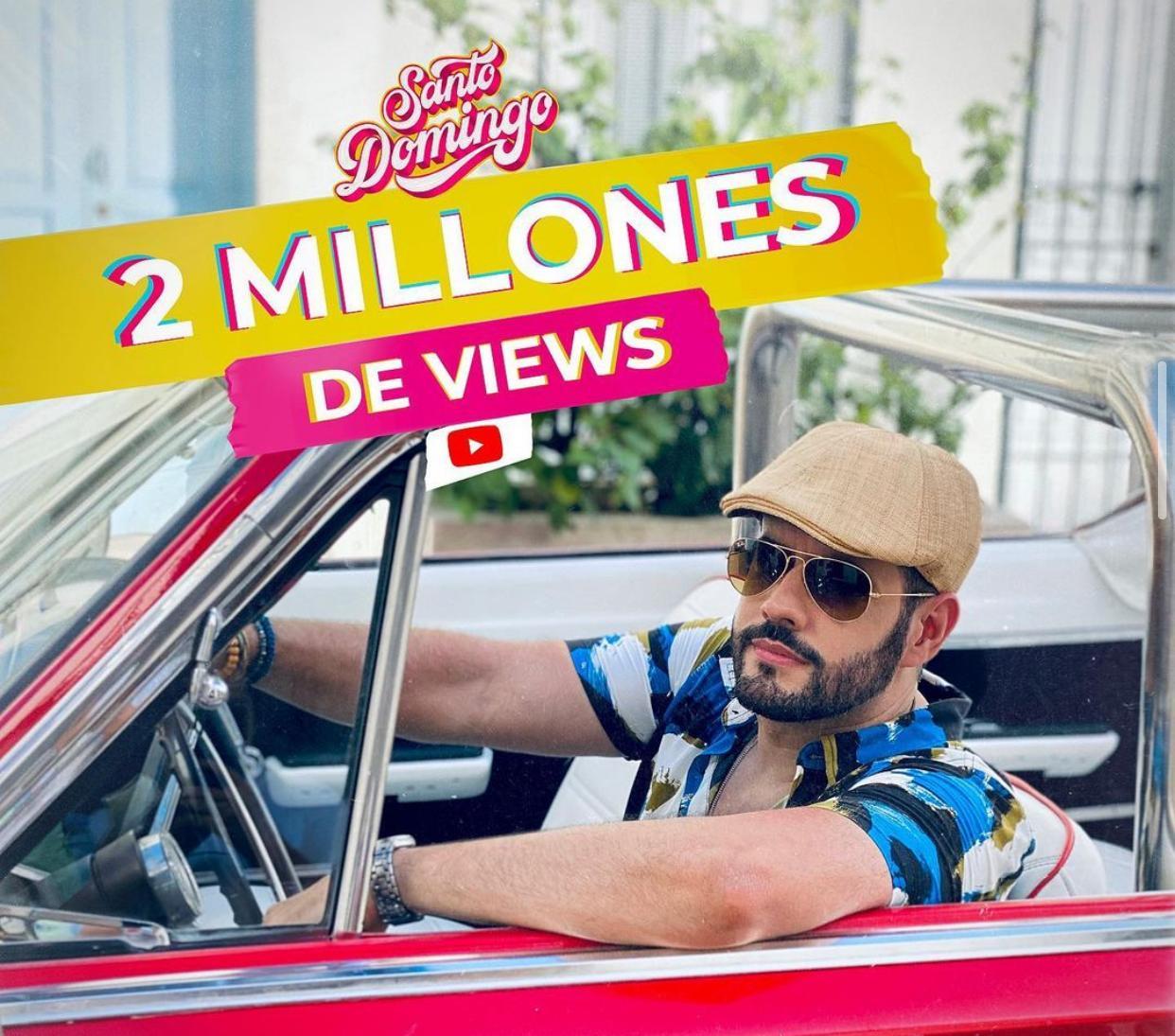 Manny cruz celebra 2 millones de views con tema Santo Domingo