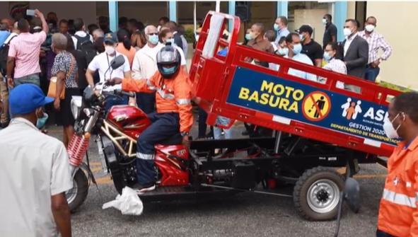 Video | SDN implementa proyecto para recoger basura en motocicletas