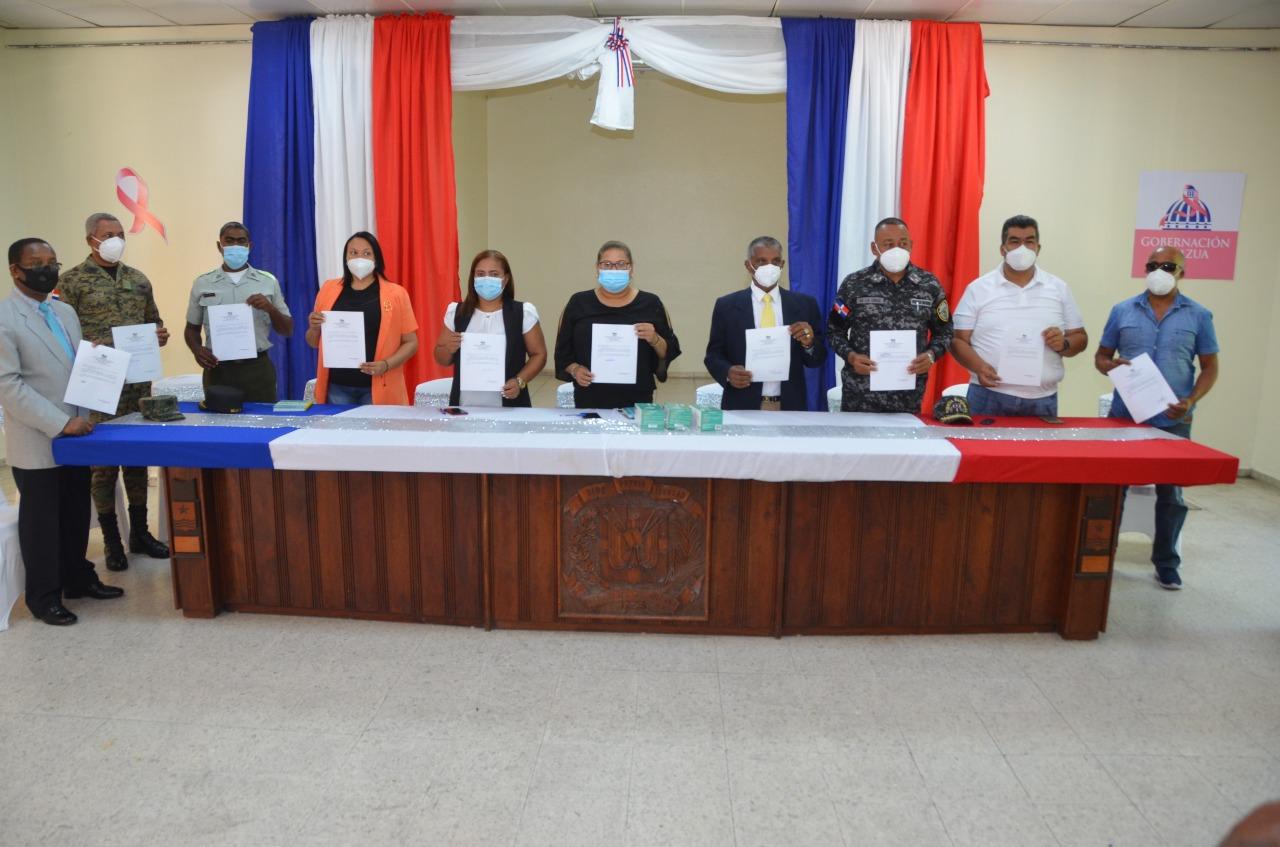 Salud Pública y Gobernación de Azua sostienen encuentro para reforzar medidas contra el Covid-19