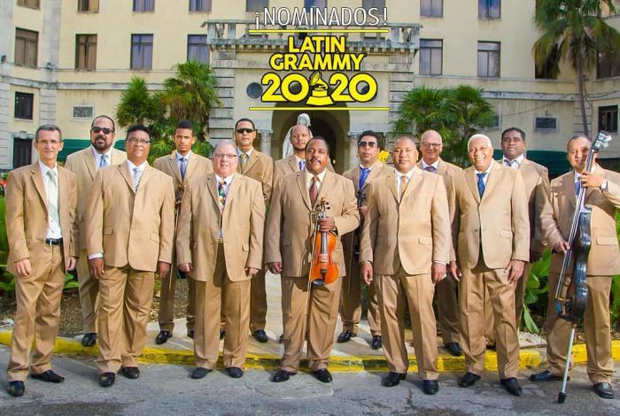 Orquesta Aragón de Cuba con el Premio Grammy Latino 2020