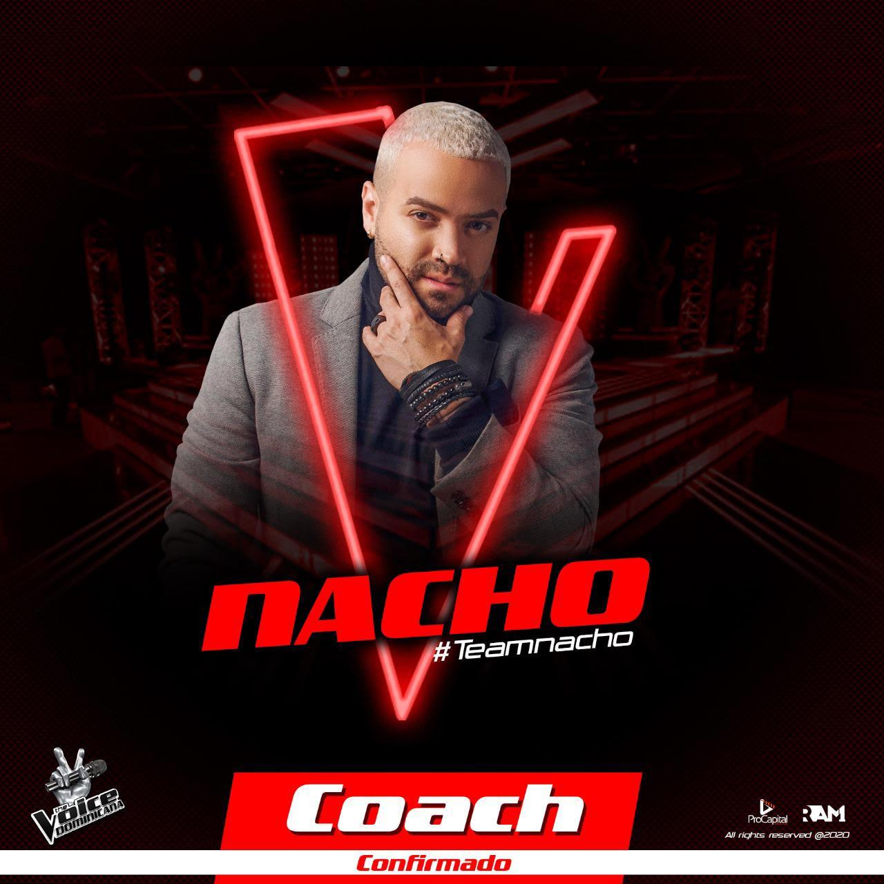 """Nacho es el cuarto y último coach confirmado en """"The Voice Dominicana"""""""