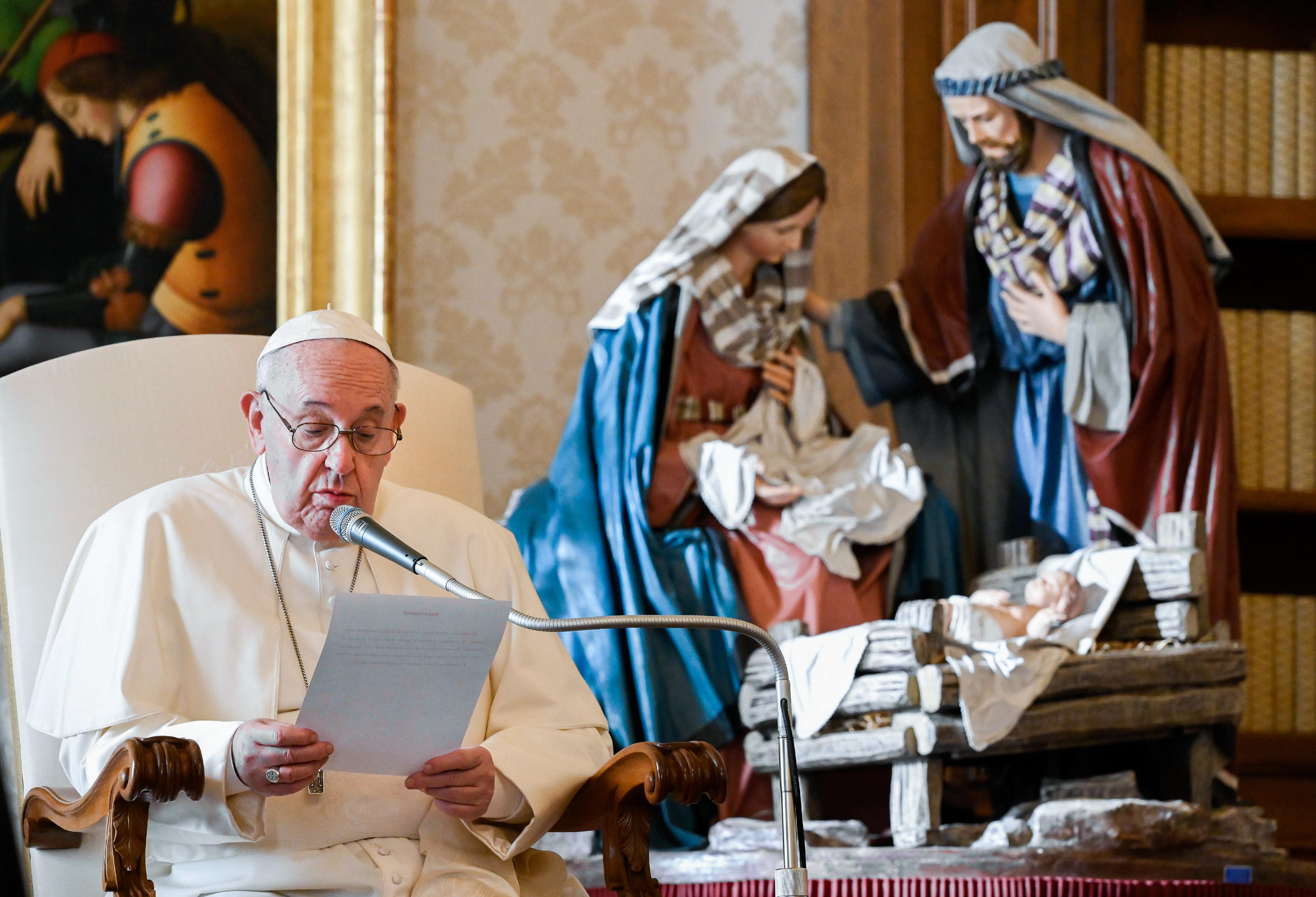 Papa Francisco desea una Navidad menos consumista ante dificultades por la pandemia