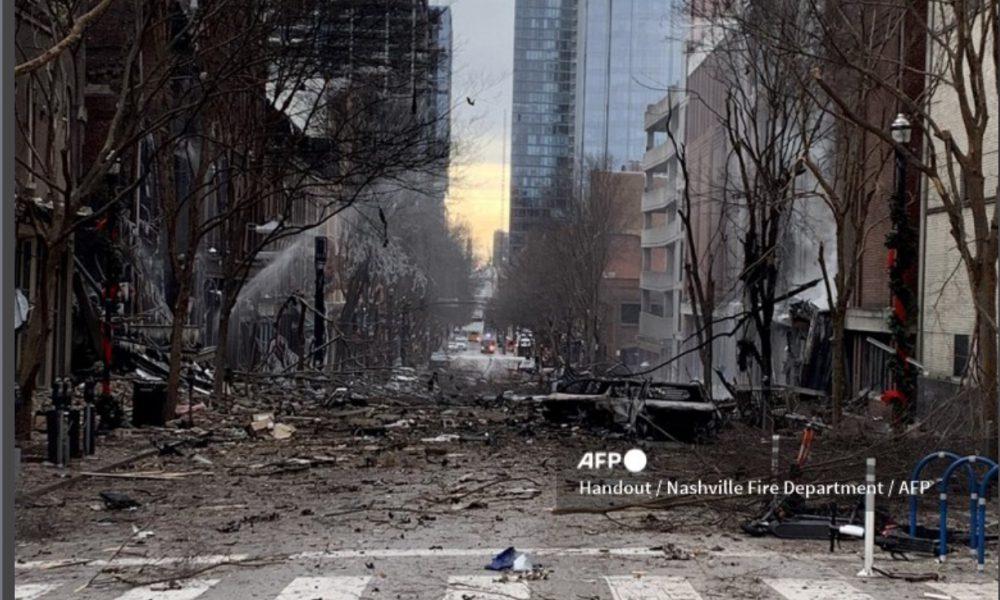 Reportan fuerte explosión en Nashville, EE.UU.