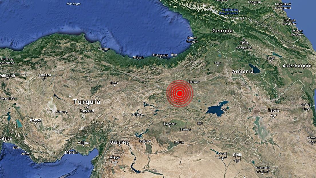 Sismo de magnitud 5,5 en el este Turquía