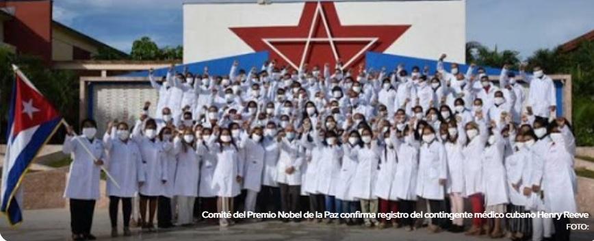 Médicos cubanos oficialmente nominados al Nobel de la Paz