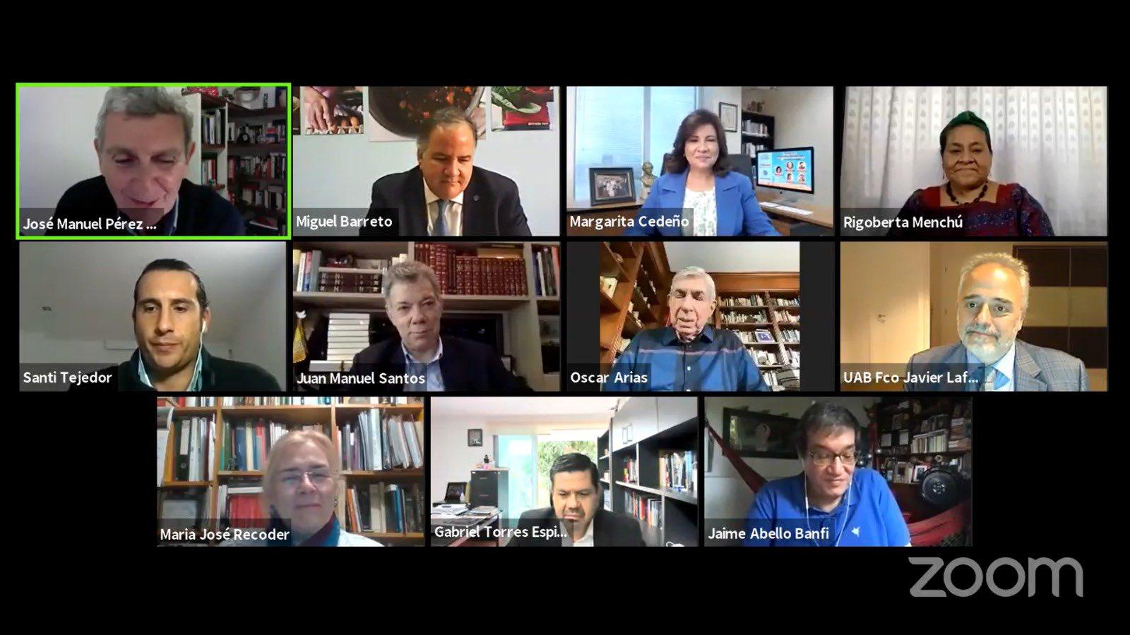 Margarita Cedeño agradece participación en panel internacional con líderes de la región