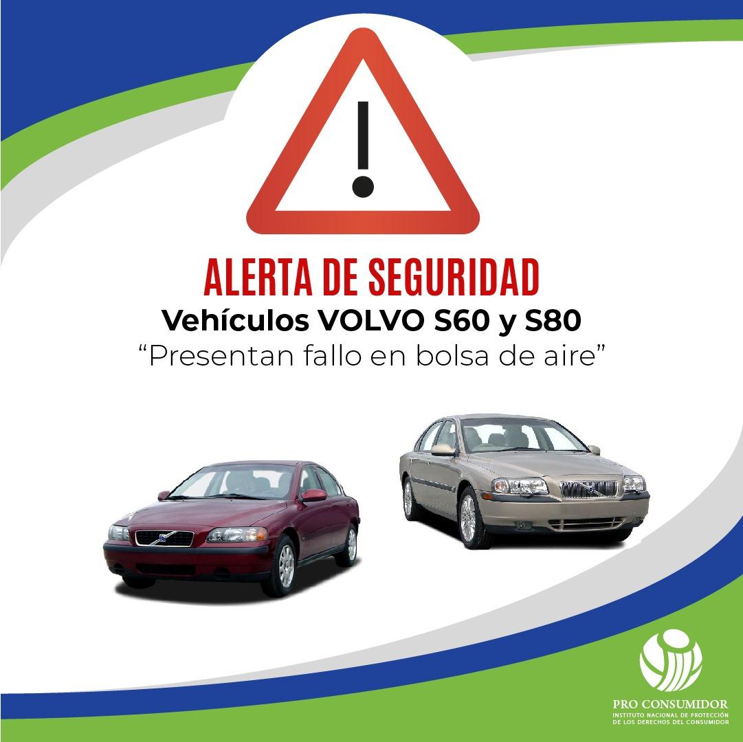 Emiten alerta de seguridad en modelos de vehículos marca Volvo por fallo en bolsa de aire