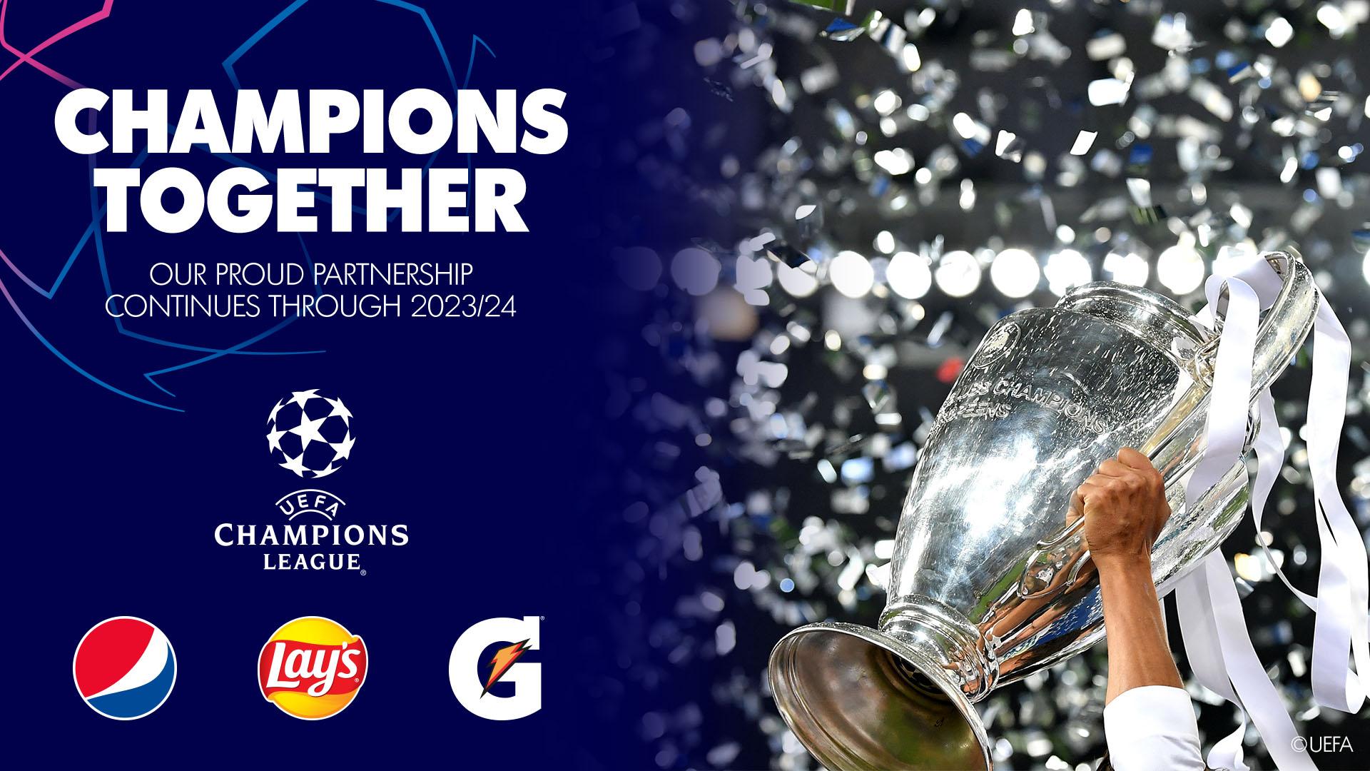 Pepsico y la Liga de Campeones de la UEFA continuarán alianza global hasta 2024