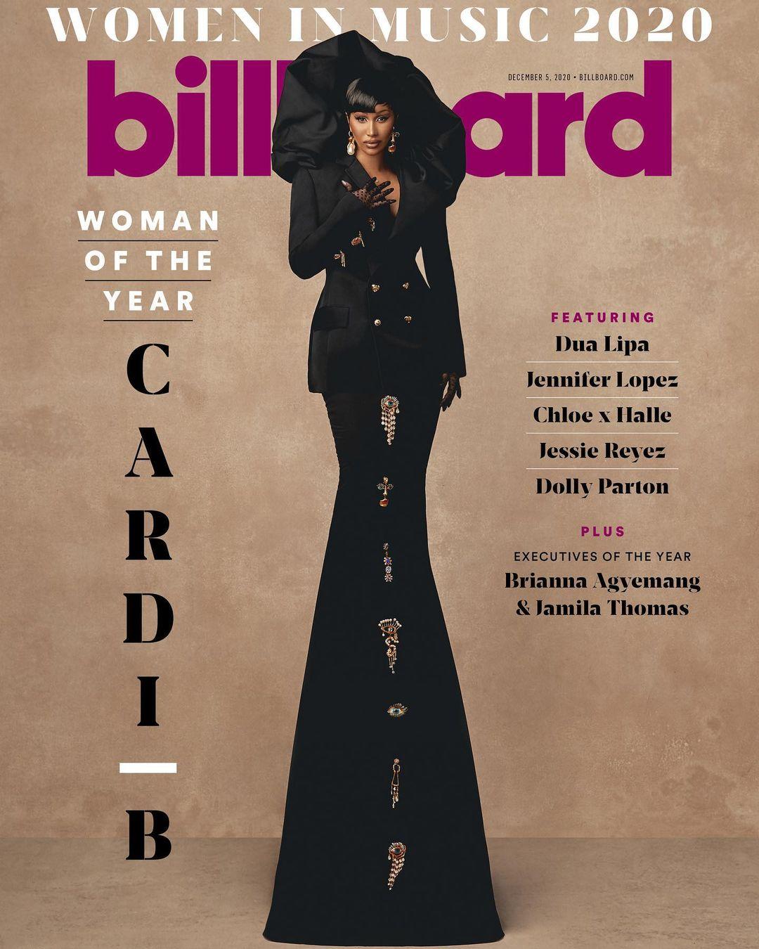 """Cardi B posa para Billboard  tras ser reconocida """"La Mujer del año"""""""
