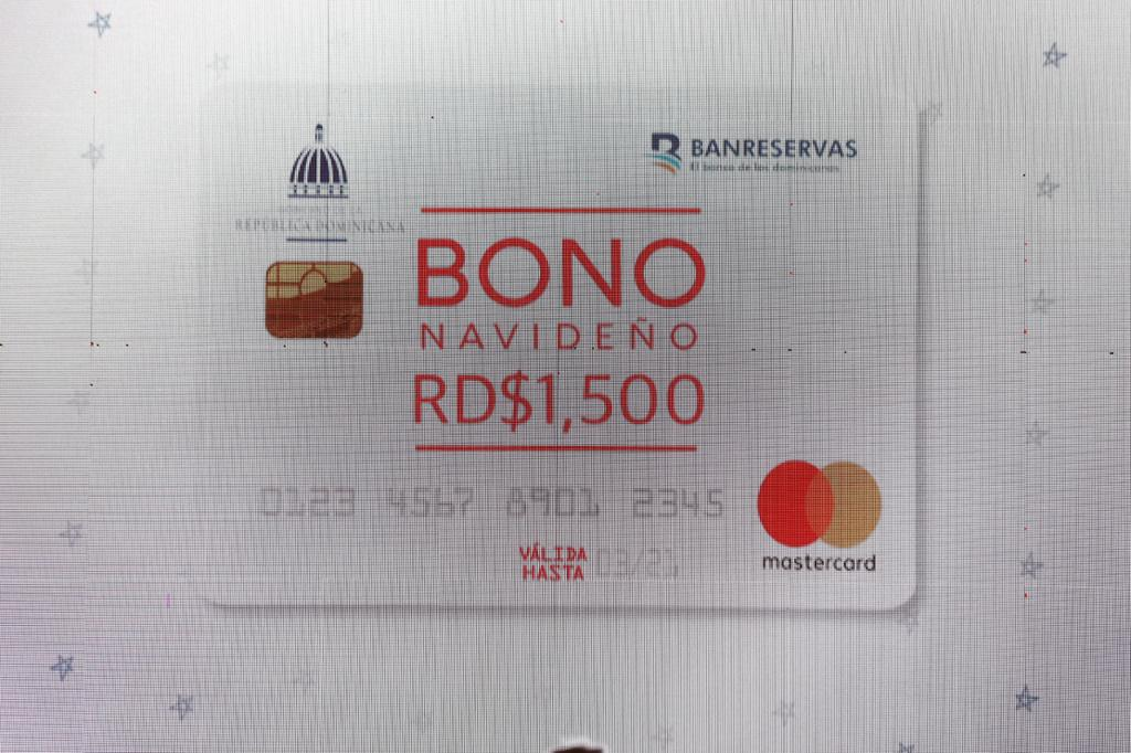 Gobierno entregará tarjeta Bono Navideño por un monto de RD$1,500 Pesos.
