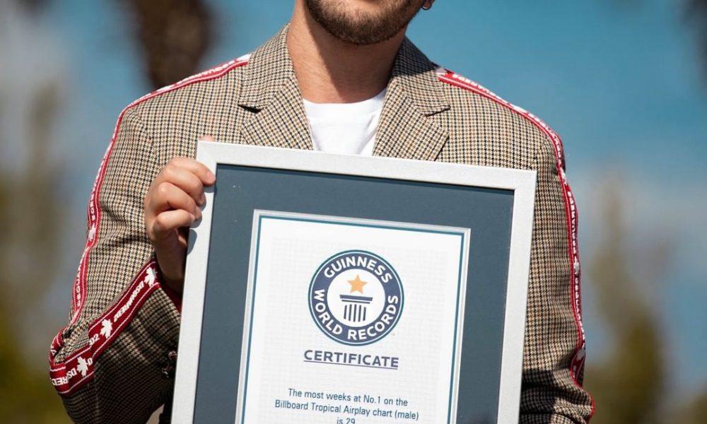 Prince Royce gana Record Guinness por ser el artista con más semanas siendo el #1er Billboard Tropical Airplay