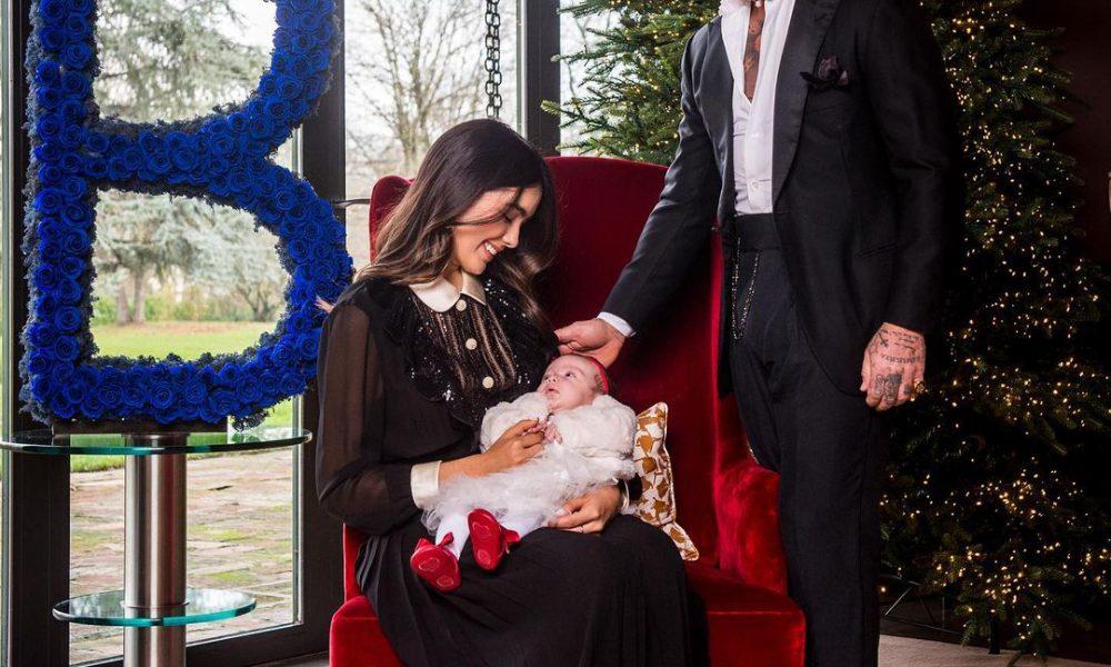 Gianluca Vacchi y Sharon Fonseca muestran por primera vez el rostro de su hija