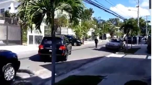 VIDEO | Salida del presidente Luis Abinader de su nueva casa