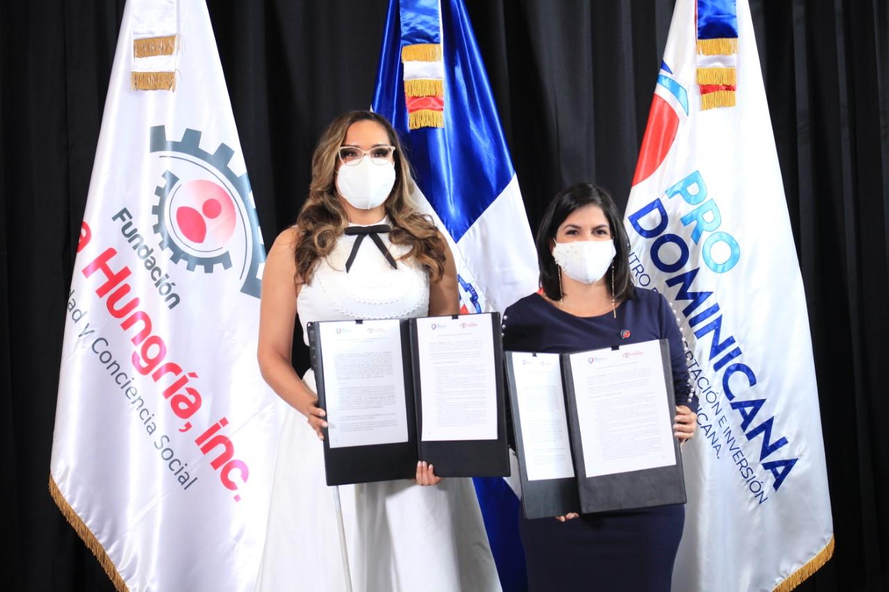 ProDominicana y Fundación Francina firman acuerdo inclusivo de comercio exterior