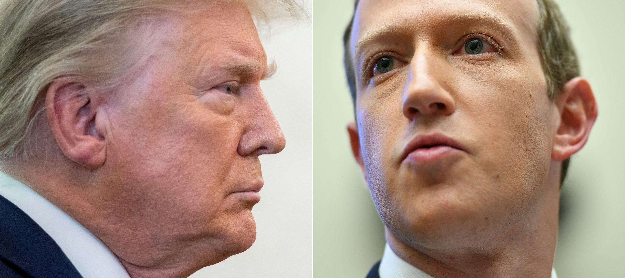 Facebook bloquea cuenta de Trump por tiempo indefinido
