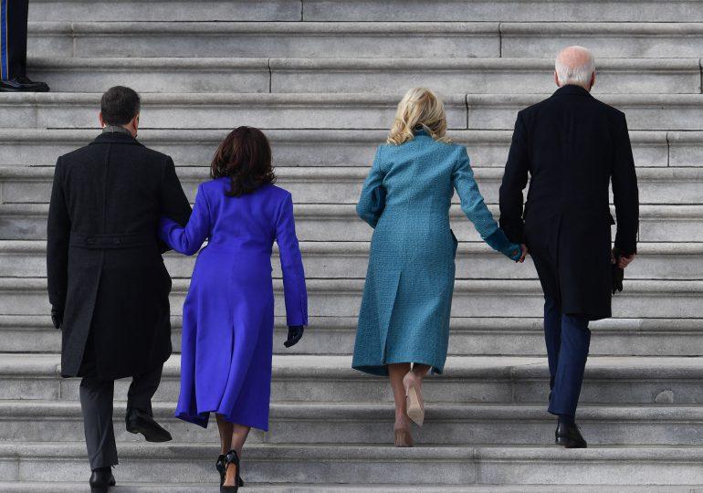 Biden llega al Capitolio para asumir como el 46º presidente de EEUU