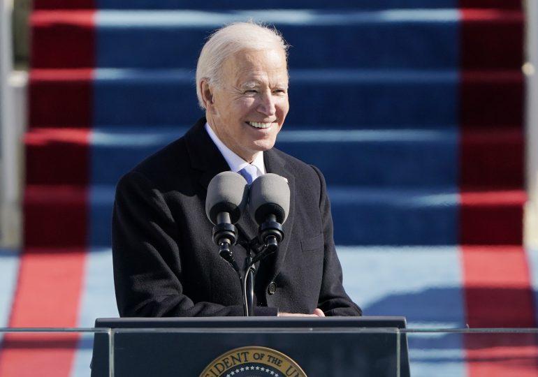 Joe Biden inicia su discurso inaugural como el 46° presidente de EEUU