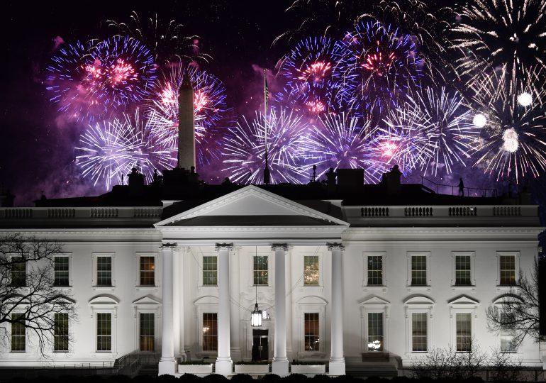 Estrellas y fuegos artificiales en concierto para Biden, sin público