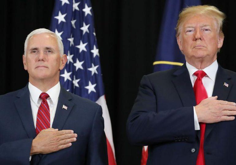 Trump y Pence se reunieron este lunes en la Oficina Oval