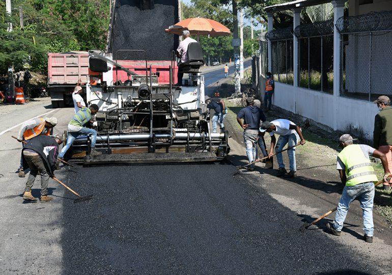 Obras Públicas interviene la carretera San Francisco de Macorís-Cruce autopista Duarte