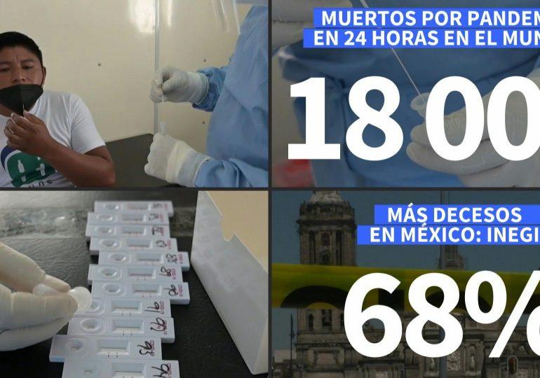VIDEO | Récord de muertes por covid-19 en un día, mientras las nuevas cepas se extienden
