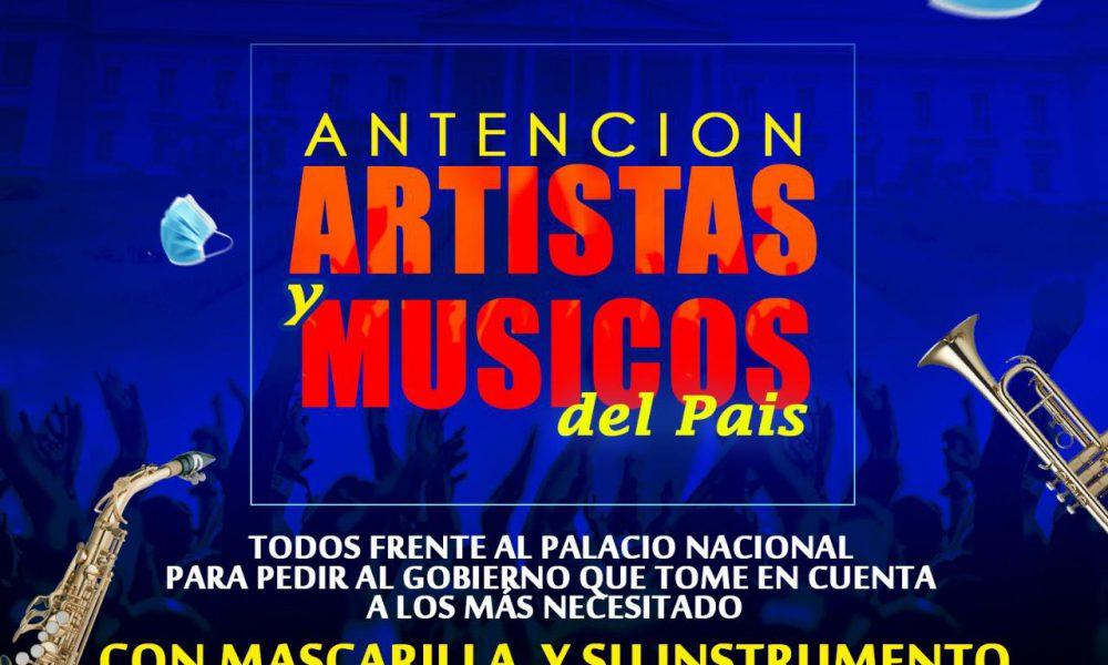 Artistas y músicos convocan nueva marcha frente al Palacio Nacional el próximo martes