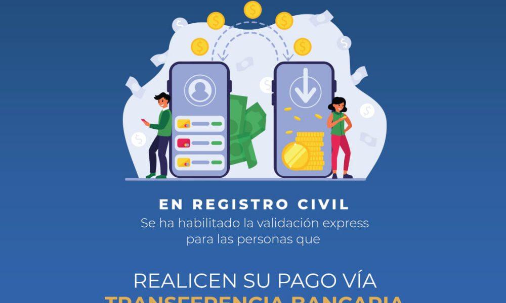 ADN habilita validación express del Registro Civil para quienes paguen por transferencia bancaria