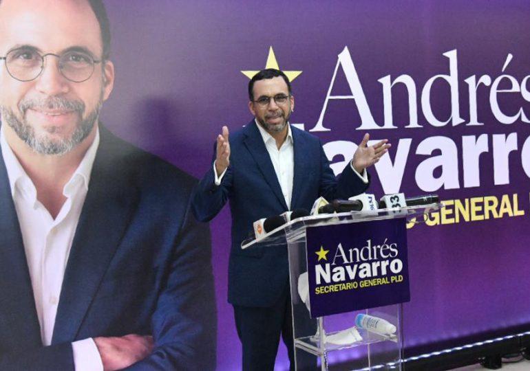 Andrés Navarro aspira la secretaría general del PLD y propone transformar el partido