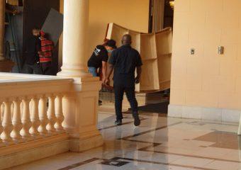 Video | Desmontan escenario del CNM en el Palacio Nacional