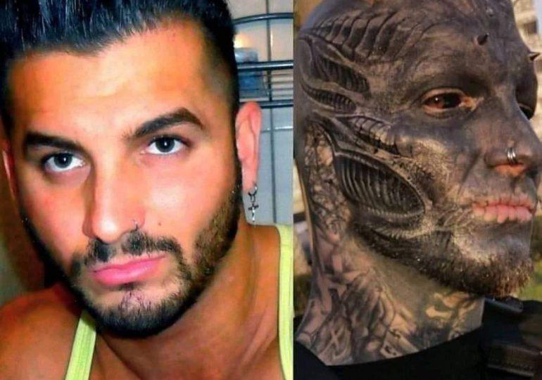¡Insólito! Hombre se mutila el rostro para parecer alienígena
