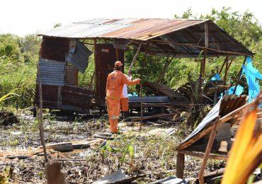 Inician retiro de casas en áreas protegidas de Laguna Cabarete y Goleta en Puerto Plata
