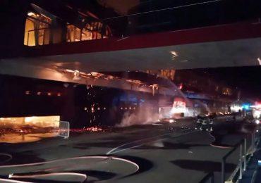 VIDEO | Se registra incendio en autódromo donde corre el Gran Premio Moto GP de Argentina