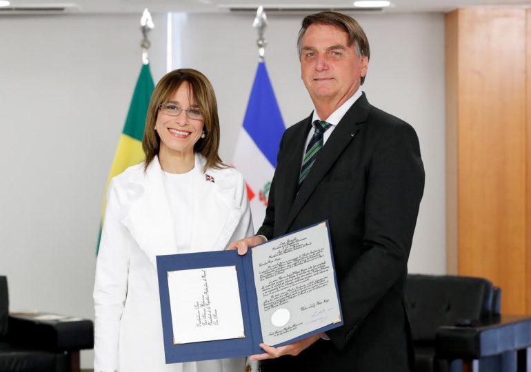 Patricia Villegas de Jorge habilitada formalmente como Embajadora de RD en Brasil