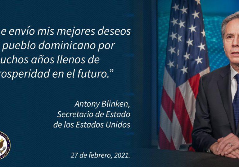 Secretario de Estado de EEUU felicita al pueblo dominicano por el Día de la Independencia
