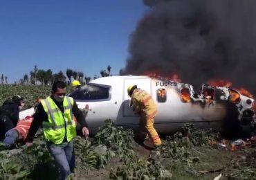 Mueren seis militares en accidente aéreo en el oriente de México