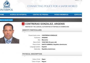 Argenis Contreras presentaba notificación Roja de Interpol